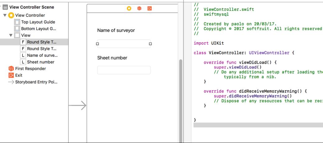 Swift3 - iOS App adding data into a MySQL Database - Softfruit